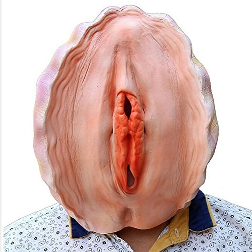 LETSQK Novelty Latex Halloween Costume Party Prop Funny Shell Head Mask Headgear Yellow