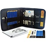 33-piece Professional Drawing and Sketch Kit with Pencils, Erasers, Kit Bag and Free Sketchpad