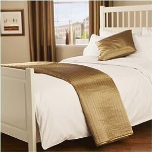 Passion - Camino de cama acolchado, aspecto seda satinada, talla única