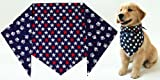 Patriotic Paws Bandana for Dogs (S) Ties on 9″ – 10″ neck, My Pet Supplies
