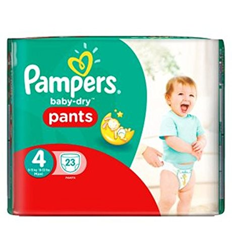 Pampers Baby-Dry Pants Size 4 Carry Pack 23 Nappies