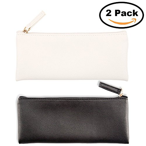 Cy3Lf PU Leather Pencil Cases Pouch Bag with Zipper,Simple Pencil Pouches, Makeup Pouch, Cosmetic Pouch - Zipper Pouch Sunglasses Soft Pu