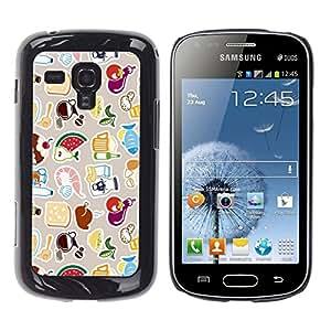 EJOY---Cubierta de la caja de protección la piel dura para el / Samsung Galaxy S Duos S7562 / --Modelo lindo FRESCO