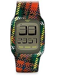 Swatch Men's Digital SURB118 Black Resin Quartz Watch
