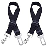 Dog Seat Belt, Dog Cat Car Safety Seat Belt Harness Adjustable Leads Harness for Cars Vehicle, 2 Pack
