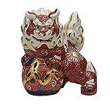 Jpanese traditional ceramic Kutani ware. Decorative Ornament. Shishi lion. With paper box. ktn-K5-1701