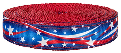 star spangled red nylon webbing
