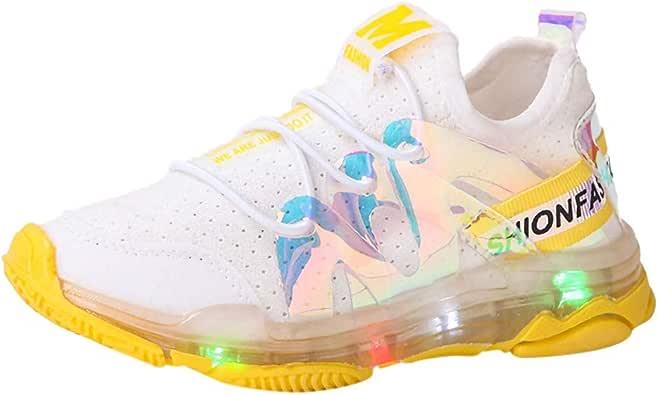1-6 Años,SO-buts Niños Niño Bebés Niñas Casual Malla Blanca Letra Led Luz Luminosa Carrera Deportiva Zapatillas Zapatillas Zapatos: Amazon.es: Zapatos y complementos