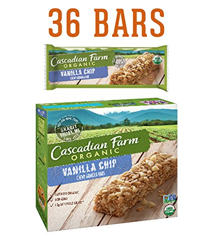 Cascadian Farm Organic Granola Bars, Vanilla Chip Chewy Granola Bars, 6 Bars (Pack of 6)
