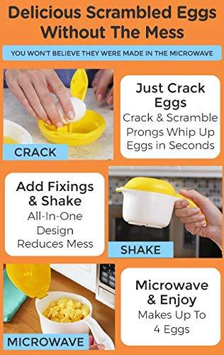 Hornillo para huevos y tortillas revueltos para microondas ...