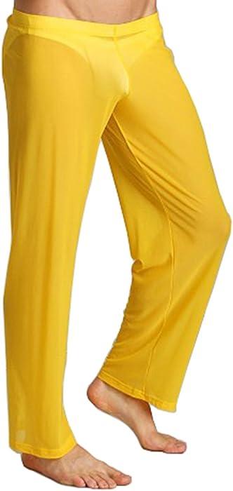 AWEIDS Herren Mesh atmungsaktiv Lange Hosen transparente