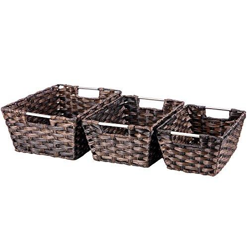 Buy Melbury Rectangular Wicker Storage Basket From The: Woven Basket, Set Of 3 Rectangular Wicker Rattan Nesting