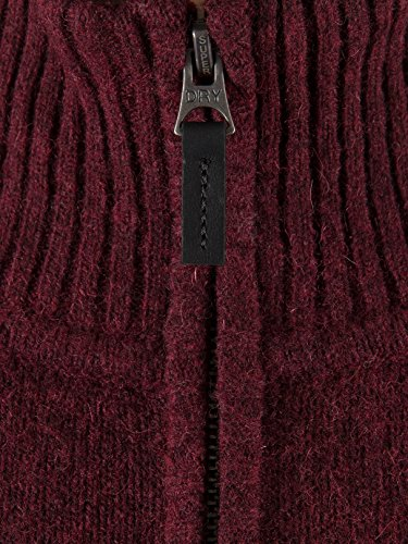 Rouge Superdry Harlo Logo Knit Zip Homme Bleu Half xqH8wqg40