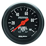 "Auto Meter 2612 Z-Series 2-1/16"" 0-100 PSI Mechanical Fuel Pressure Gauge"