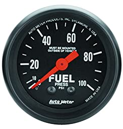 Auto Meter 2612 Z-Series Mechanical Fuel Pressure Gauge