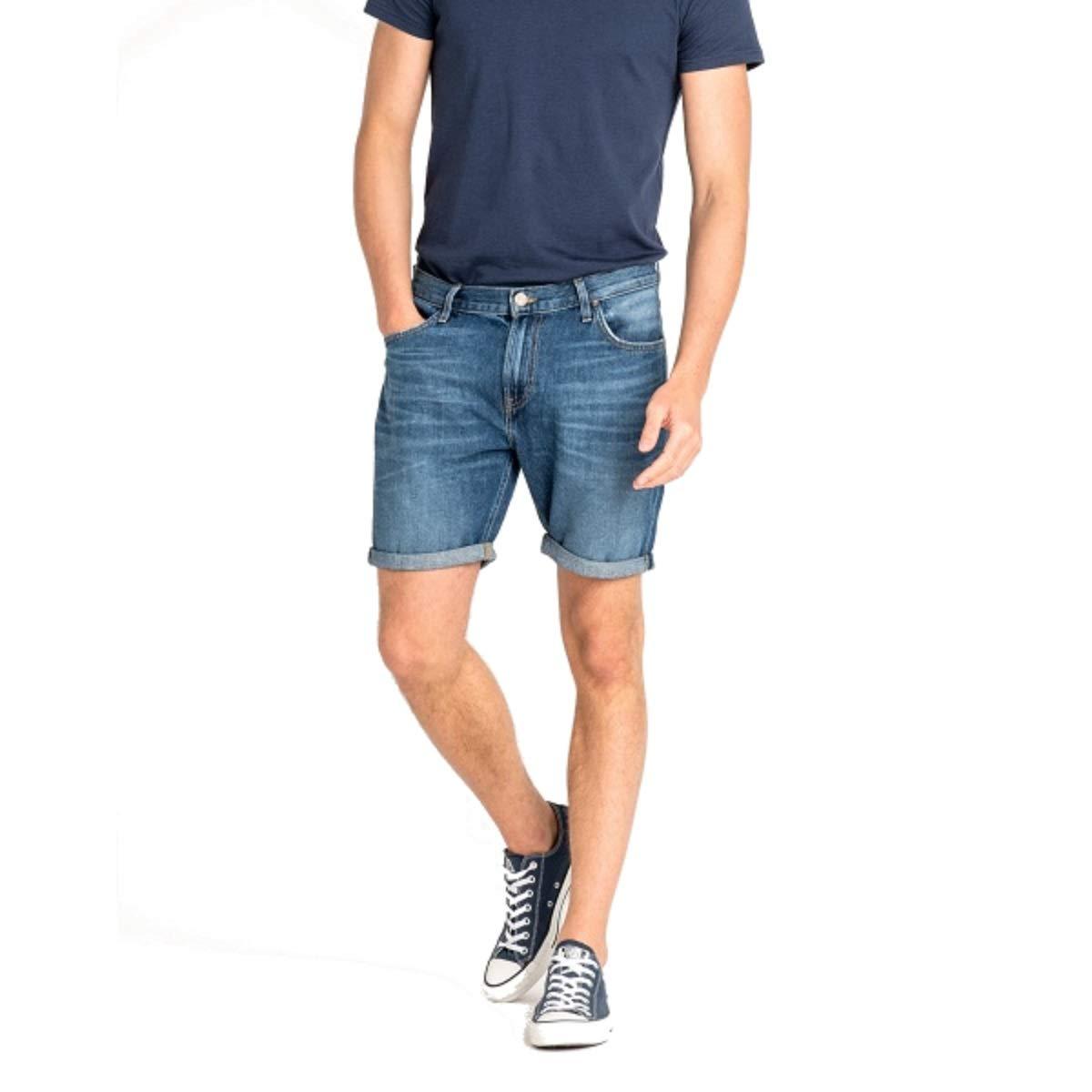 TALLA W28. Lee Rider Short Pantalones Cortos para Hombre