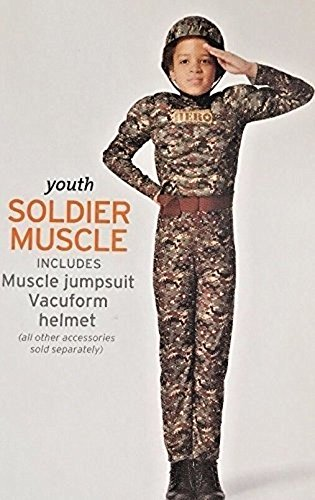 Deluxe Halloween Costume American Hero Muscle Soldier GI Joe Army Marine Camouflage Boys Girls Small 4-7 (Gi Joe Girl Halloween)