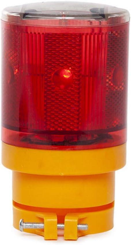 Greenice | Baliza Solar LED Señalización - Rojo: Amazon.es: Iluminación