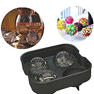 Ancdream Complete Premium Ice Ball Maker Mold, 8-Scotch Ice Balls with Lifetime Durable Silicone Sphere Ice Tray