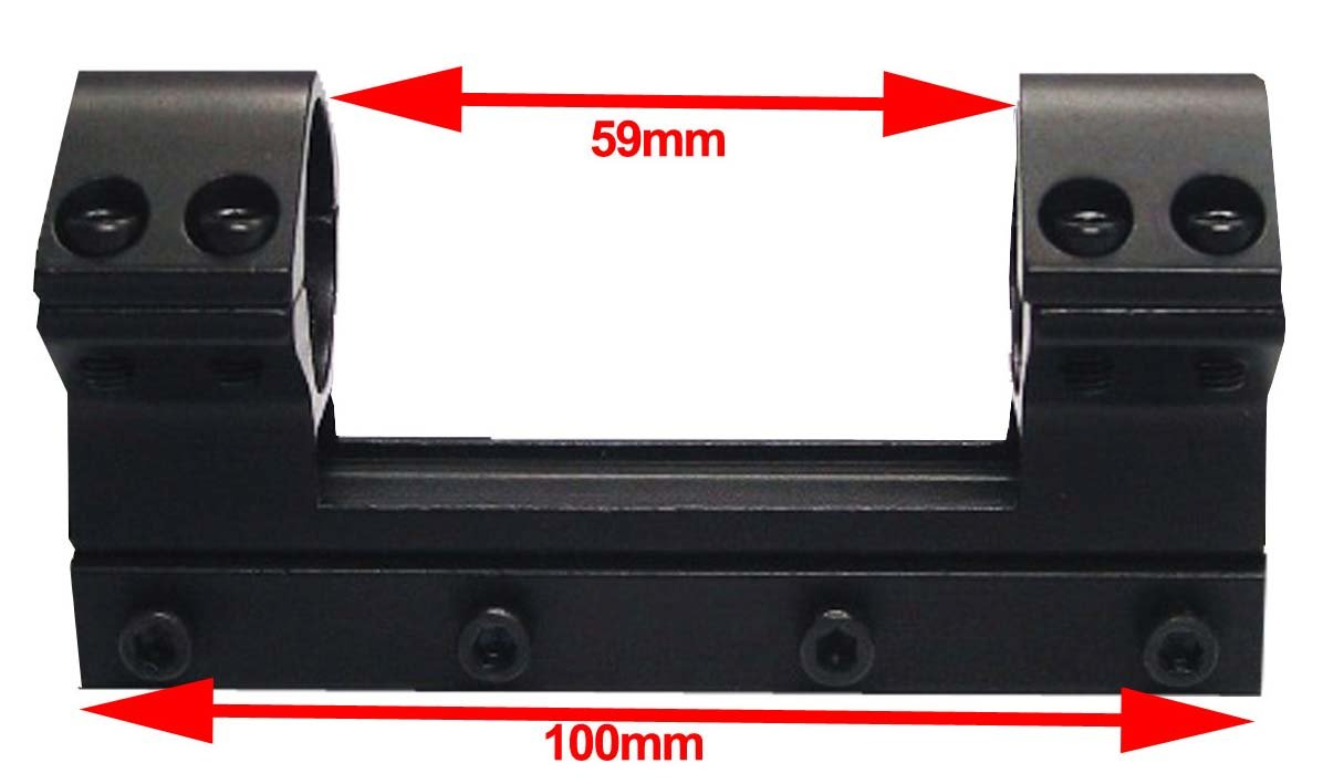 Adapter 11mm Prismenschiene auf Weaver Picatinny Zielfernrohr Montage RSM06