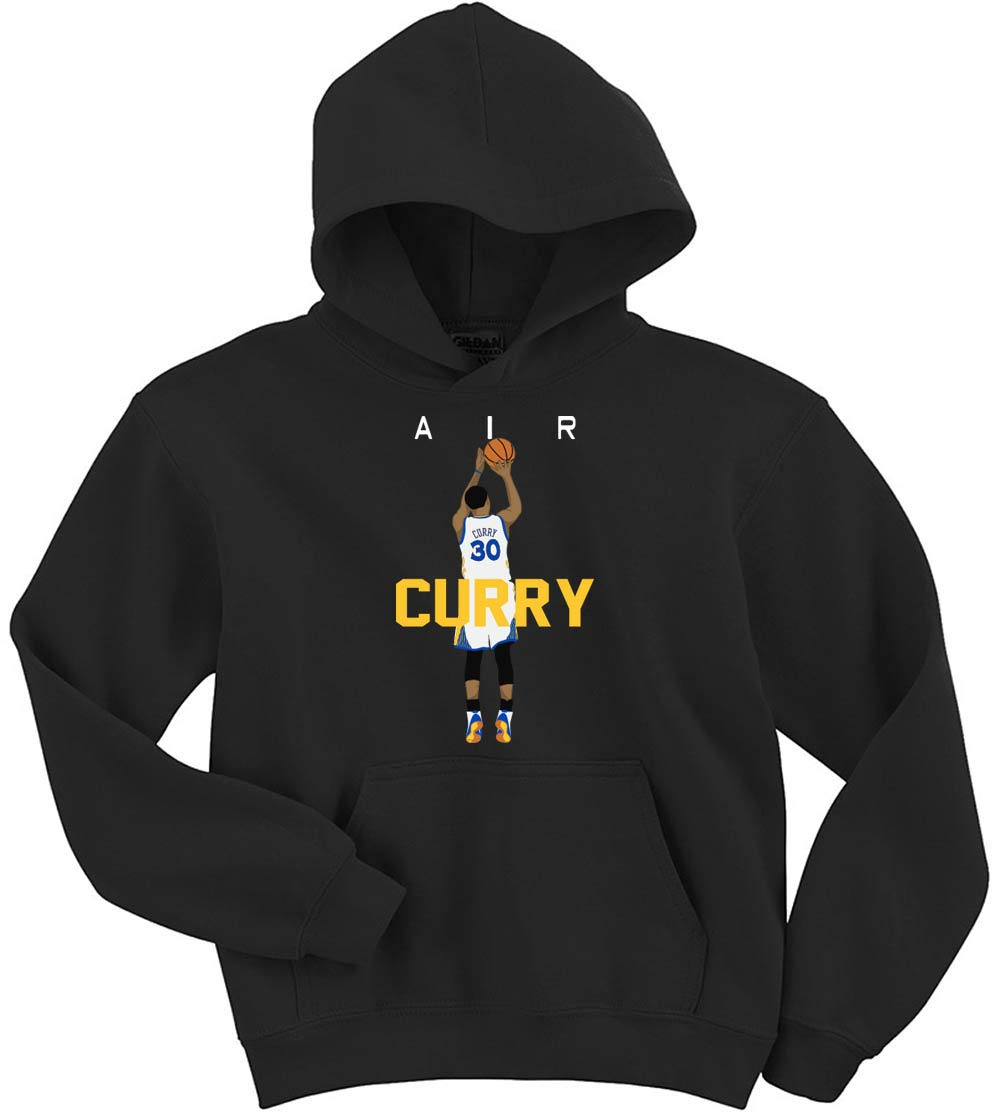 Black Golden State Curry Air Pic Hooded Shirts