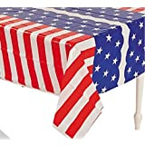 Patriotic Flag Table Covers Set of 3 - Red White and Blue Tablecloths