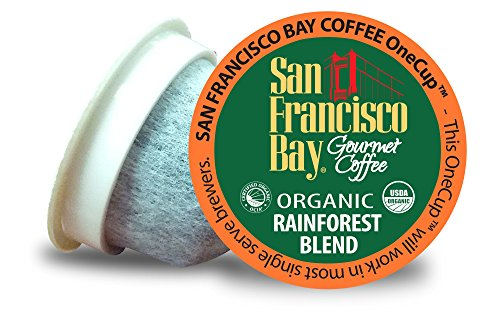 San Francisco Bay OneCup, Organic Rainforest Blend, 36 Count- Single Serve Coffee, Compatible with Keurig K-cup Brewers