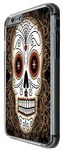 1473 - Cool Fun Trendy skeleton blood walking dead scary skull tattoo biker sugar skull Design iphone 6 6S 4.7'' Coque Fashion Trend Case Coque Protection Cover plastique et métal - Clear
