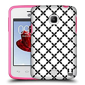 Head Case Designs X Marks Black And White Patterns Hard Back Case for LG Ray / Zone