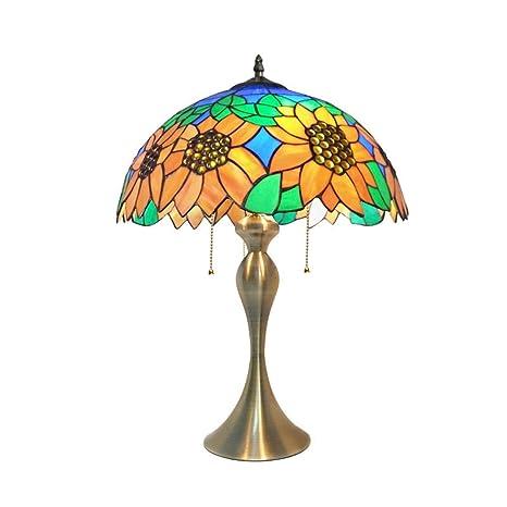 Amazon.com: ZTJ-Lighting Tiffany - Lámpara de mesa estilo ...