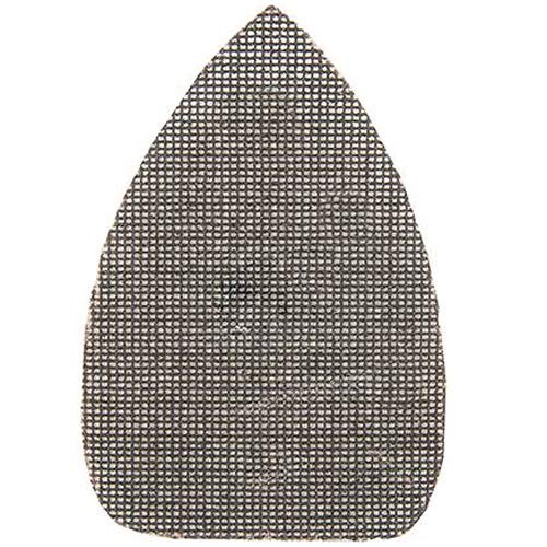 10 Pack 150mm - 80 Grit Silicon Carbide Mesh Detail Triangle Sanding Sheets – Hook & Loop - Loops