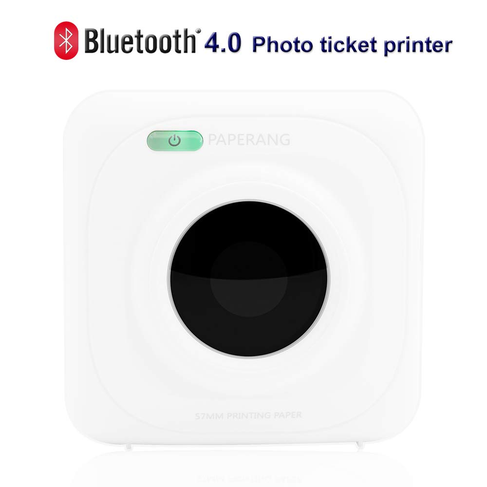 PAPERANG P1 White Mini Wireless Paper Photo Printer Portable Bluetooth Instant Mobile Printer for iPhone/iPad/Mac/Android Devices with Print Papers by Labelife (Image #1)