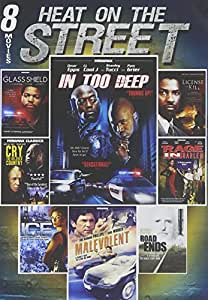 8-Film Heat On The Street: In too Deep/ The Glass Shield/ Lincense to Kill/ Cry, The Beloved Country/ A Rage In Harlem/ Malevolent/ Road End/ Ice