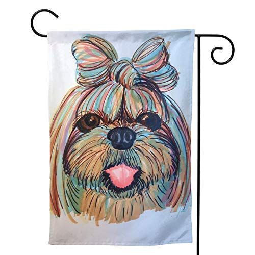 (MINIOZE Shih Tzu Head Baby Dog Pupy Women Themed Welcome Extra Big Large Jumbo for Party Outdoor Outside Decorations Ornament Picks Garden Yard Decor Double Sided 12.5 X 18 Flag)