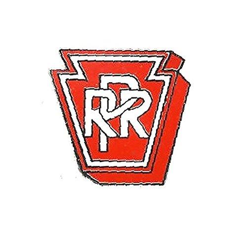 (PRR Railroad Lapel Pin Hat Tie Tac Brass Red KOR)