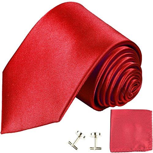 ne Necktie Set 100% Silk , Solid Red (100% Silk Solid Necktie)