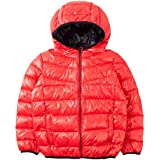 Spring&Gege Boys' Quilted Packable Hoodie Lightweight Puffer Jacket Windproof Outwear Children Warm Duck Down Coat