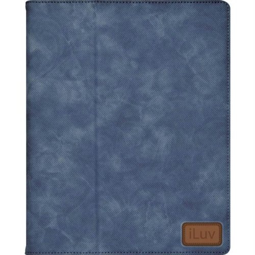 iLuv iCC824BLU Great Jeans - Leatherette Folio with Enhanced Viewing Angles for iPad and iPad2 - Blue