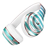 Ocean WaterColor Ombre Stripes DesignSkinz Full-Body Skin Kit for the Beats by Dre Solo 2 Wireless Headphones / Ultra-Thin / Matte Finished / Protective Skin Wrap