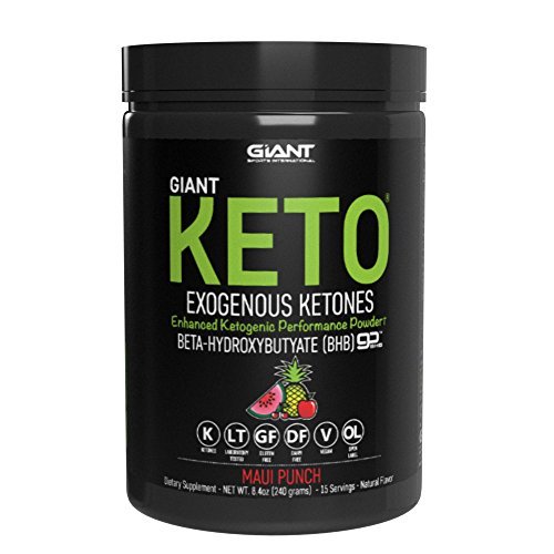 Giant Keto-Exogenous Ketones Supplement - Beta-Hydroxybutyrate Keto Powder- New and Improved Formula to Support Your Ketogenic Diet, Boost Energy and Burn Fat in Ketosis - Maui Punch - 15 Servings