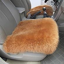 MITU Universal Full Set of Deluxe Sheep Skin Wool Car Seat Cover Chair Pad