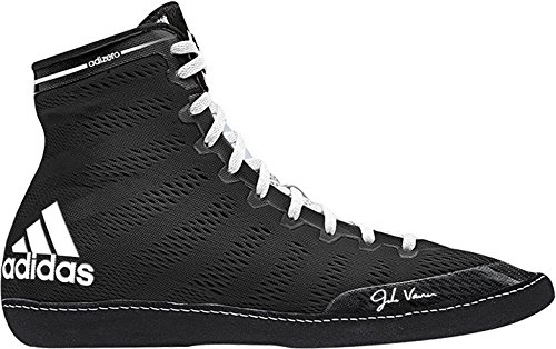 online store 8f7b3 e82da Galleon - Adidas Men s Adizero Wrestling XIV Wrestling Shoes, Black White  White, 6.5 M US