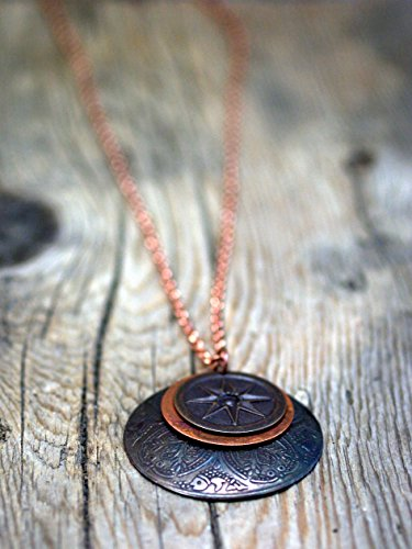 Dome Component - layered copper component necklace/14 compass star & turkish dome