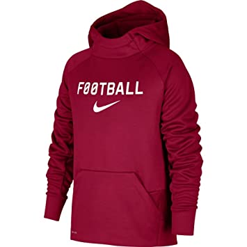 online shop buy good size 7 Nike B NK thrma Hoodie Po FTBL Sweat, Enfant, Rose (Red ...