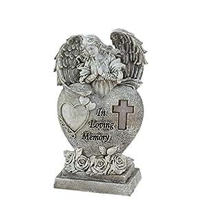 """Northlight 6,5"""""""" in loving memory """"rezando aflicción religiosa ángel funciona con energía solar al aire libre jardín Estatua"""