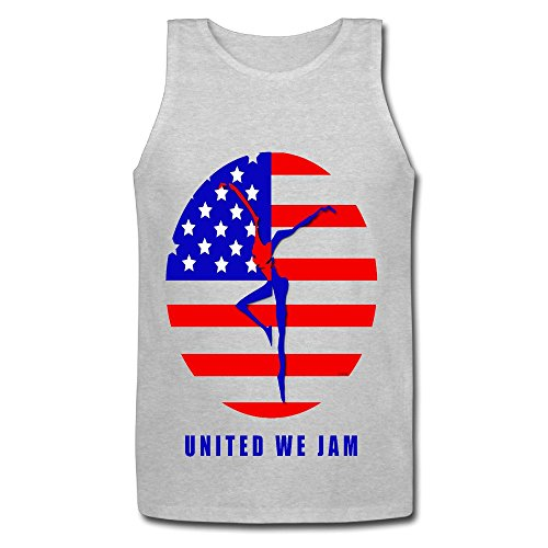 Youqian Dave Matthew Band Logo American Flag Men's T-Shirt X-Large Gray Tank (Personalized Water Bottles No Minimum)