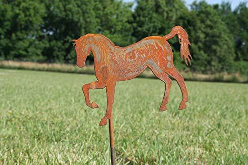 Horse Metal Art - Metal Horse Garden Stake Small Size