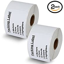 """2 Rolls Dymo 30324 Compatible 2-1/8"""" x 2-3/4""""(54mm x 70mm) Media Labels,Compatible With Dymo 450, 450 Turbo, 4XL And Many More"""