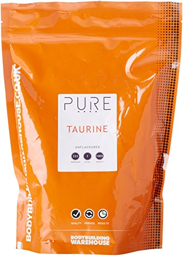 Bodybuilding Warehouse Pure Taurine Powder 1kg Unflavoured - for Muscle Growth & Recovery