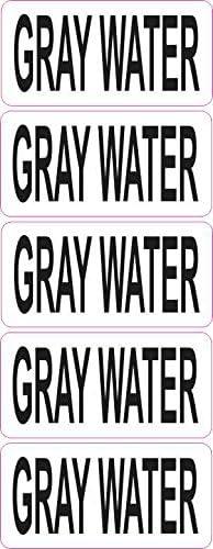StickerTalk Clear Gray Water Vinyl Sticker 2 inches by 1 inch